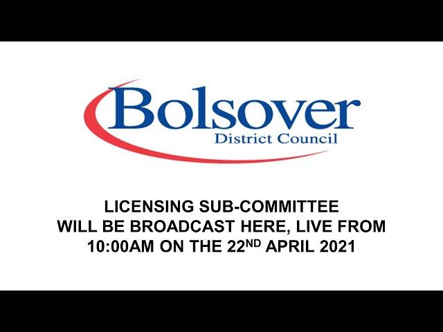 Online YouTube meeting - Licensing Sub-Committee