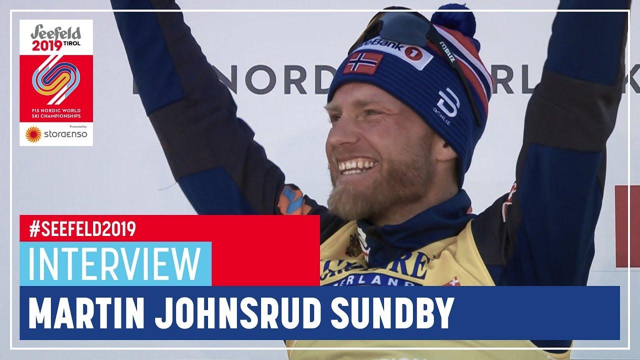 Martin J Sundby A Lot Of Emotions Men S 15 Km Seefeld Fis Nordic World Ski Championships Youtube