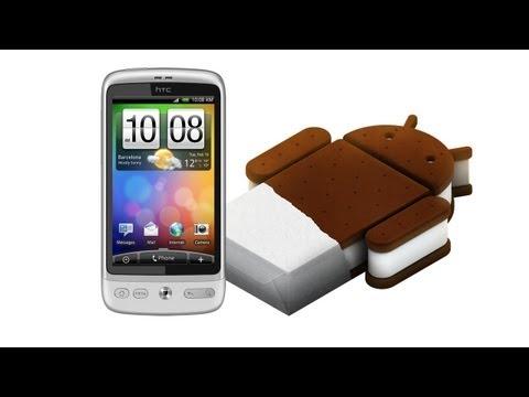 HTC Desire a Android 4.0 Ice Cream Sandwich