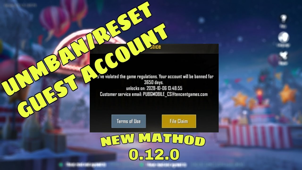 [PUBG MOBILE] How to Unban/Reset Guest account   Android