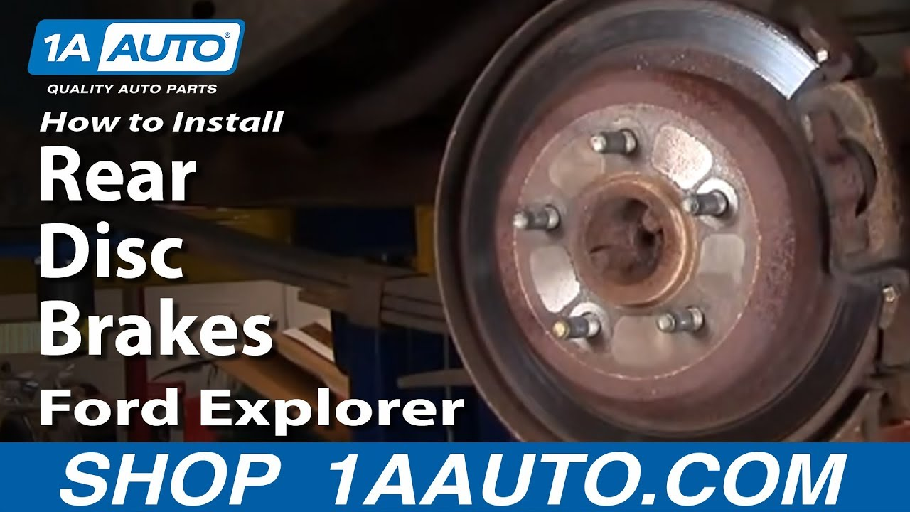 How To Replace Rear Disc Brakes 95 02 Ford Explorer Part 1 Youtube