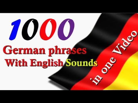Top 1000 German phrases │With English Sounds │in one video│ Full