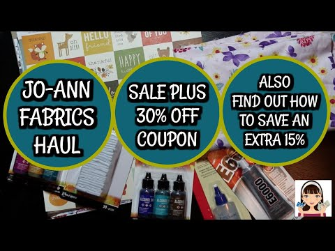 J0-ANN FABRIC GREAT SALE + WATCH TO SEE HOW TO SAVE EVEN MORE $$$
