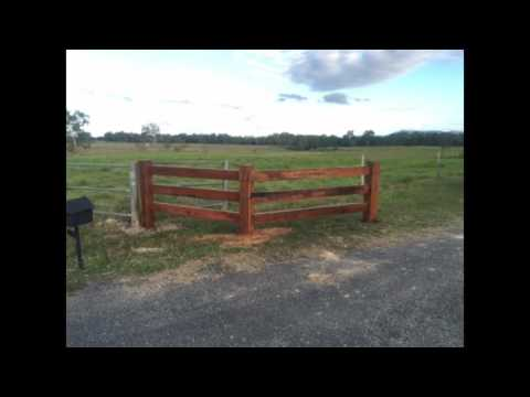 Dog Gone Fencing Mackay - Hardwood post and rail fence