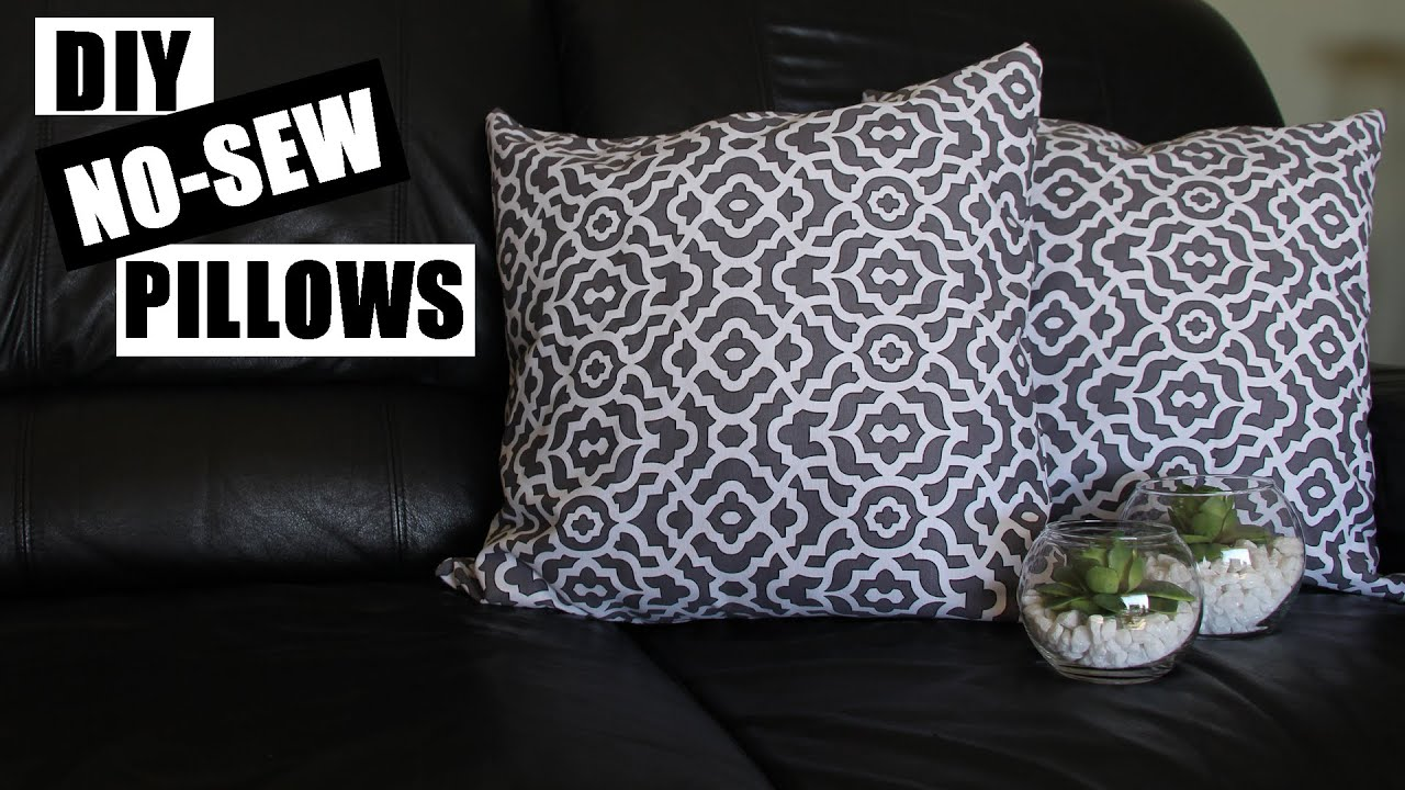 How To Make No Sew Pillows | DIY Home Decor No Sew Pillow Tutorial