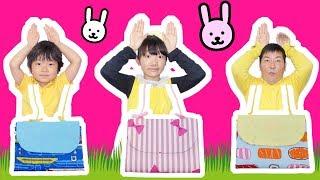 ★「ポシェット作り対決~!」誰の作ったポシェットが1番?★Making a rabbit