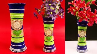 Gambar cover DIY - Flower Vase out of Disposable Plastic Glass - Best Out of Waste Craft Idea - Recycled Craft