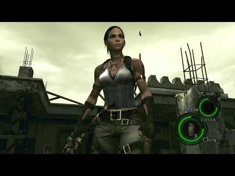 Resident Evil 5 Sheva and Chainsaw Guy Part No Guns (Knife and Grenade Only)