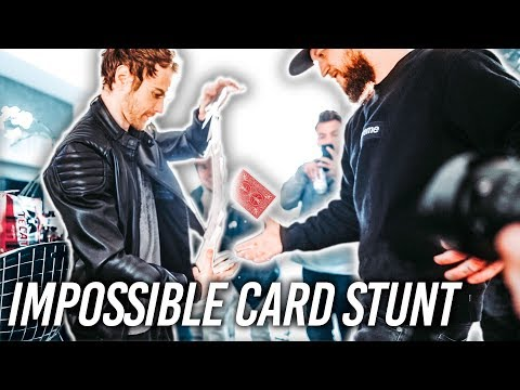 DOING THE IMPOSSIBLE Card Stunt They Said Could NEVER BE DONE