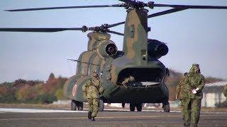 立川防災航空祭2017 輸送ヘリコプターCH47体験搭乗 飛行風景.