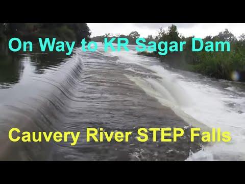 Beautiful  BALMURI Waterfalls on Kaveri ( Cauvery ) River : Near MYSORE