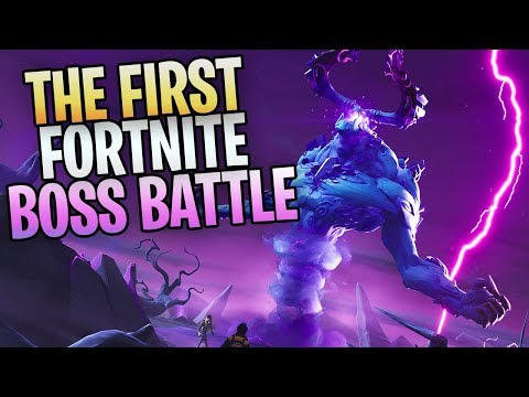 "FORTNITE - New Save The World BOSS BATTLE! Killing The ""STORM KING"" thumbnail"