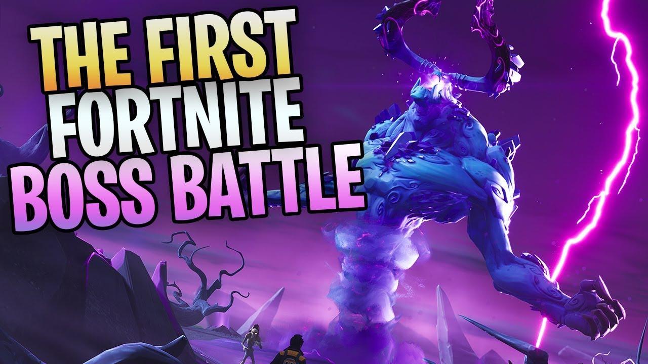 Fortnite New Save The World Boss Battle Killing The Storm King