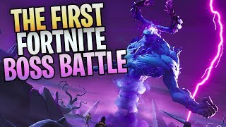 "FORTNITE - New Save The World BOSS BATTLE! Killing The ""STORM KING"""