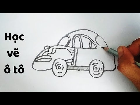 Vẽ Ô Tô Mơ Ước giải nhất – How to draw a Car