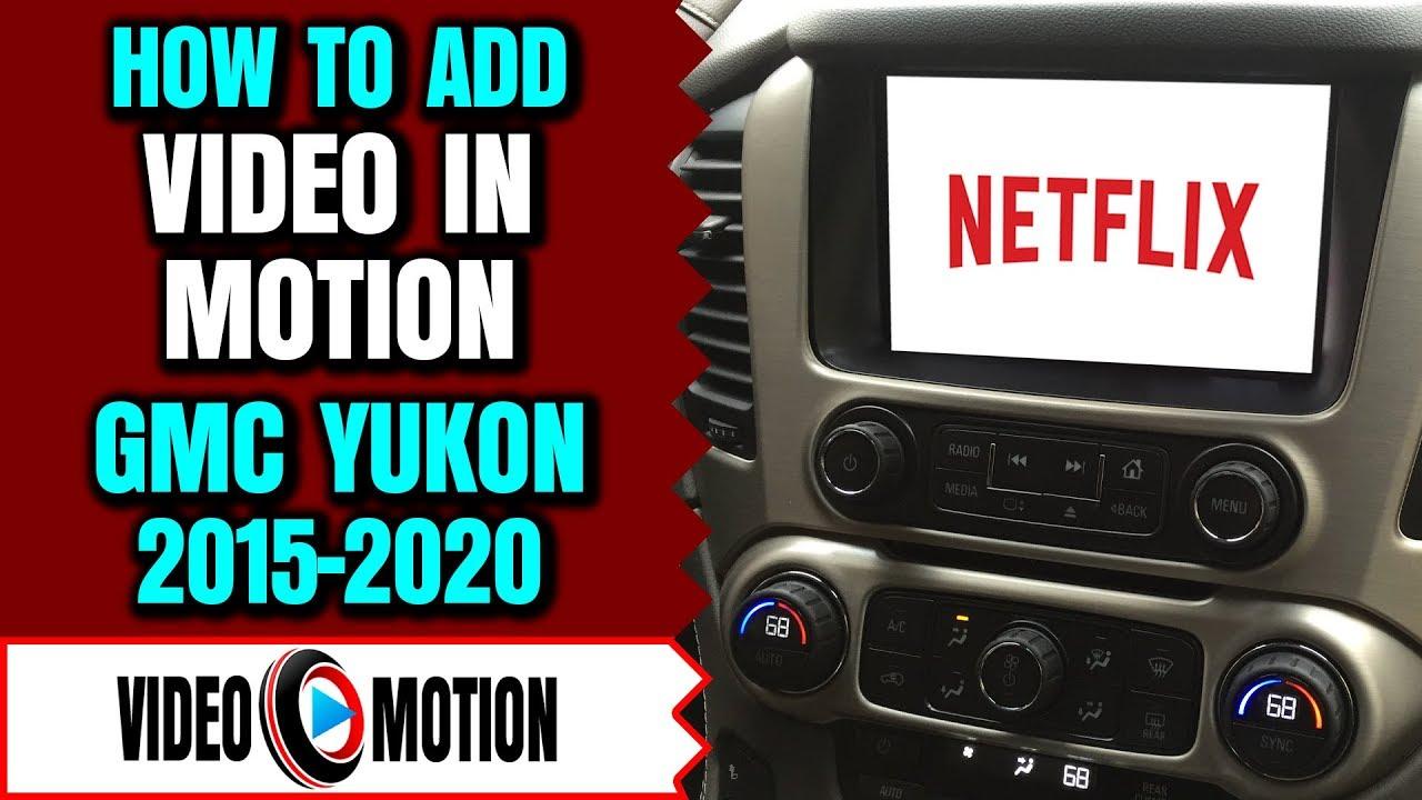GMC Yukon 2015-2019 Intellilink Video In Motion While Driving Bypass DVD  USB GM Interface LockPick