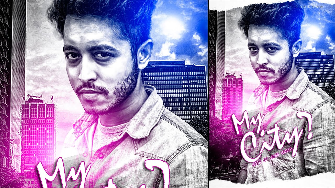 Photoshop poster design youtube - My City Movie Poster Design Photoshop Tutorial Photo Manipulation Youtube