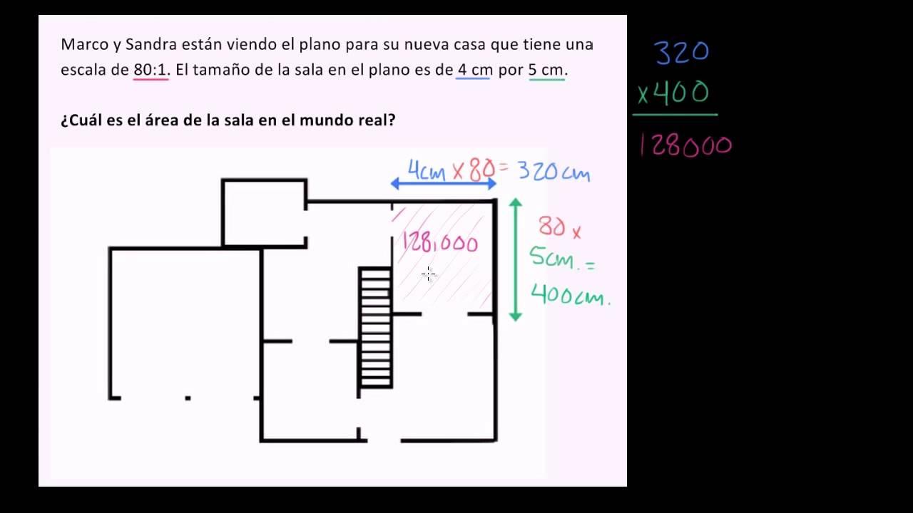 Calcular el rea de una sala usando dibujo a escala youtube for Programa para hacer planos a escala