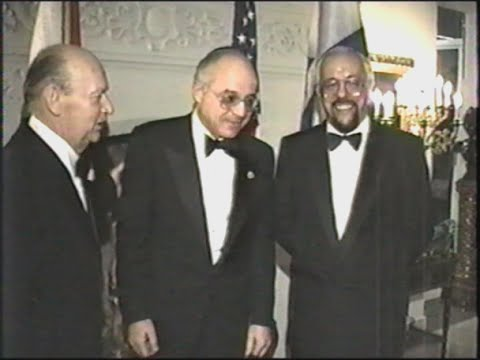 Cantorial Music and Diplomacy at a private residence. January 23, 1990.