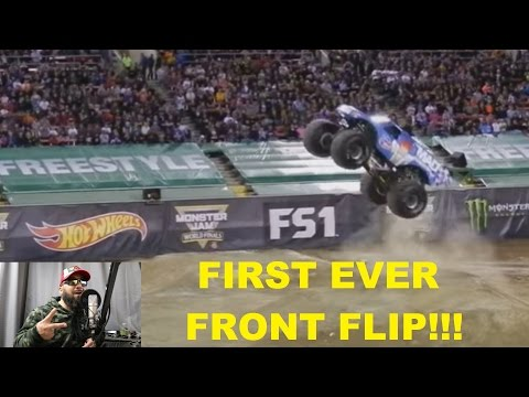 first ever MONSTER truck FRONT FLIP!!!!!!!!!