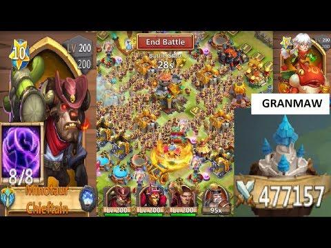 5100+ Guild War Score IRON WILL Mino Smashing Castle Clash