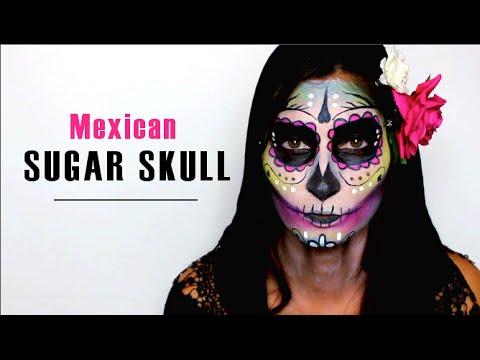 maquillage squelette sugar skull