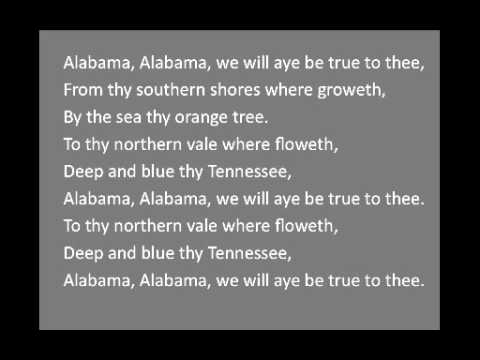 "The Alabama State Song, ""Alabama"""