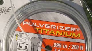Review: Weed Warrior PulverizerTitanium trimmer line