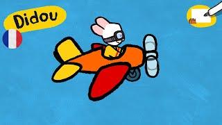 Avion - Didou dessine-moi un avion | Dessins animés pour les enfants