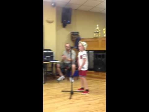 Aidan Woodend // 8 year old // singing Henry Gallagher - Lightning