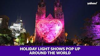 Holiday light shows pop up around the world