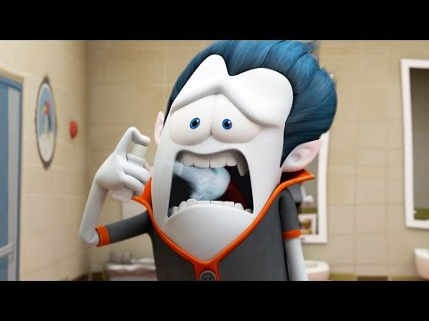 Funny Animated Cartoon | Brand New Spookiz Awkward Kiss 스푸키즈 | Cartoon for Children