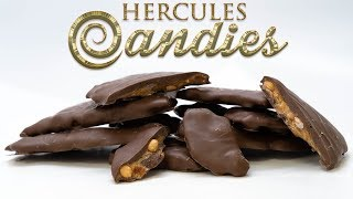 Chocolate Covered Peanut Brittle