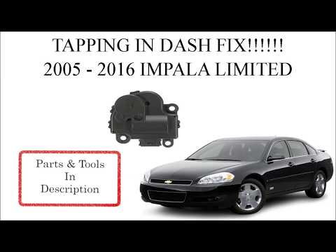 CHEVY IMPALA CLICKING NOISE IN DASH FIX!!!