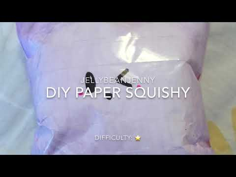 DIY SLOW-RISING PAPER SQUISHY!! SUPER affordable!