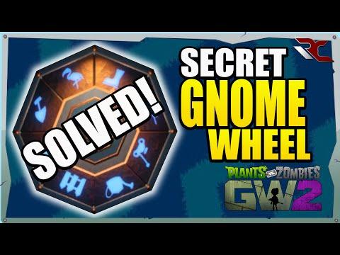 Solving the Secret Gold Gnome Wheel | Plants vs Zombies Garden Warfare 2 -  Secret Wheel Combination