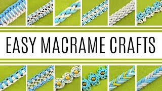 21 Easy Macrame Crafts, Knots, Patterns, Braids For Beginners & Beyond