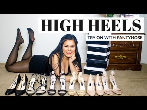 TRY ON HEELS WITH PANTYHOSE | NineWest High Heels Haul from YouTube · Duration:  2 minutes 57 seconds