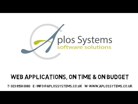 Bespoke software development - Aplos Systems