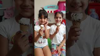 Kids eating ice cream Challenge #shorts
