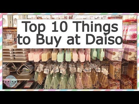 TOP 10 THINGS TO BUY AT DAISO JAPANESE DOLLAR STORE 100 YEN SHOP