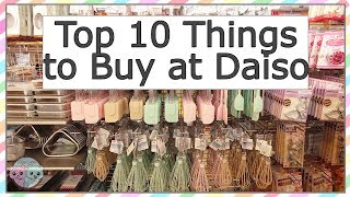 TOP 10 THINGS TO BUY AT DAISO JAPANESE DOLLAR STORE 100 YEN SHOP 💚 TRAVEL