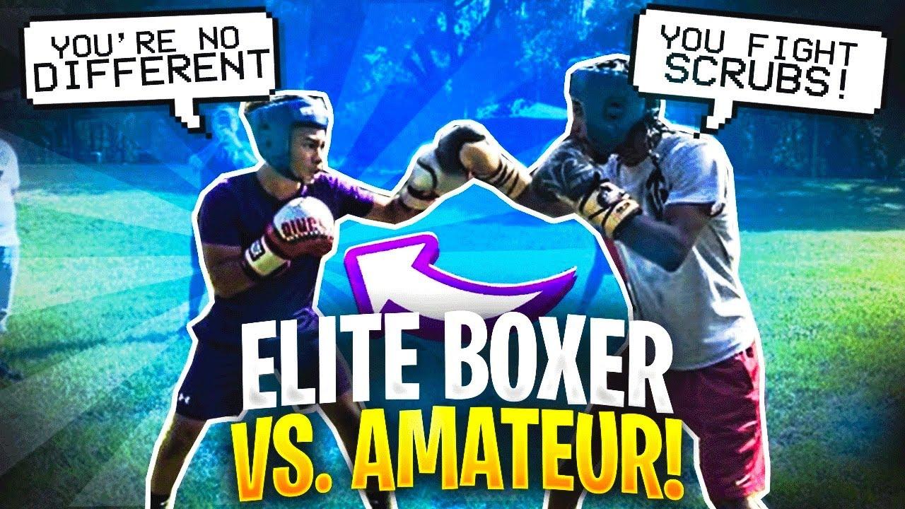 BOXER VS ELITE AMATEUR BOXER ( Street Boxing!!)