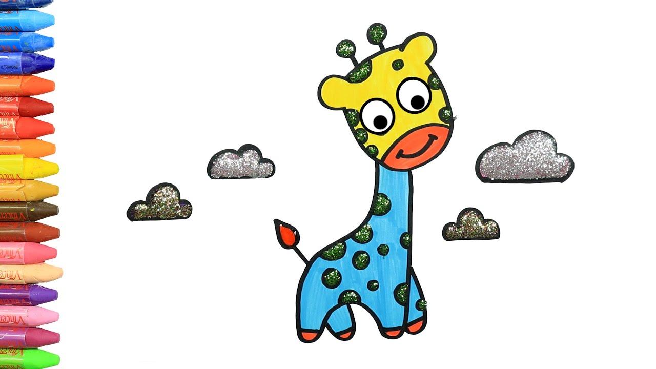 画画教学 | 儿童画画 | 如何画可長頸鹿 | 如何绘画和颜色孩子电视