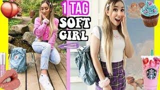ich werde zum SOFT GIRL für 24 STUNDEN (TIKTOK Shopping schminken OUTFITS)