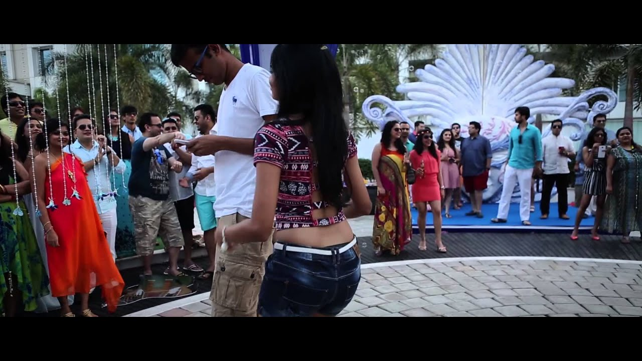 Pool party dance by cousins for alok archana wedding youtube for Pool dance show