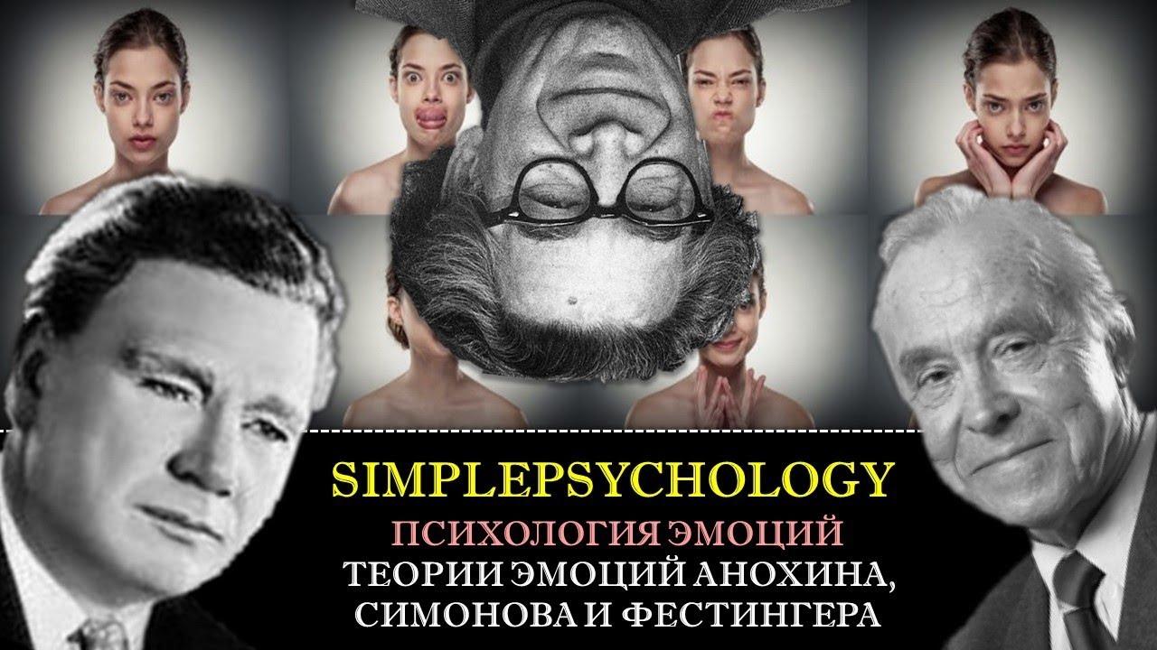 Теории эмоций Анохина, Симонова и Фестингера.