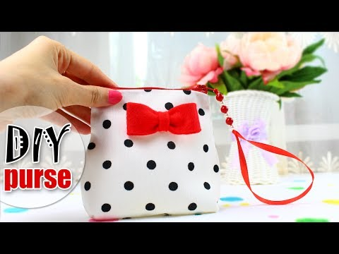 DIY PURSE BAG SWEET ZIPPER BAG TUTORIAL
