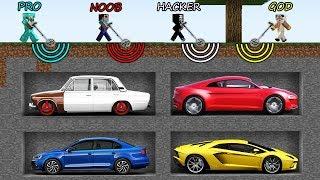 Minecraft Battle: NOOB vs PRO vs HACKER vs GOD - WHAT CAR FIND METAL DETECTOR Challenge! Animation!