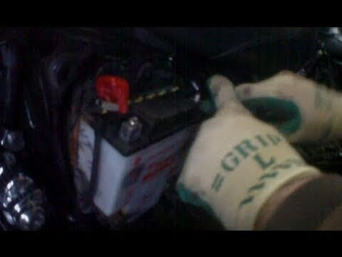 hqdefault 1100 honda shadow battery removal youtube  at bakdesigns.co